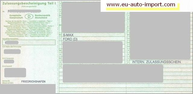 deutscher fahrzeugbrief teil 1 und 2 mit zulassungsbescheinigungratgeber eu auto import