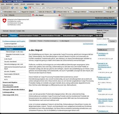 EU-Auto-Direktimport-Ford-S-Max-Zoll-Schweiz-E-DEC-elektronische-Einfuhrdeklaration
