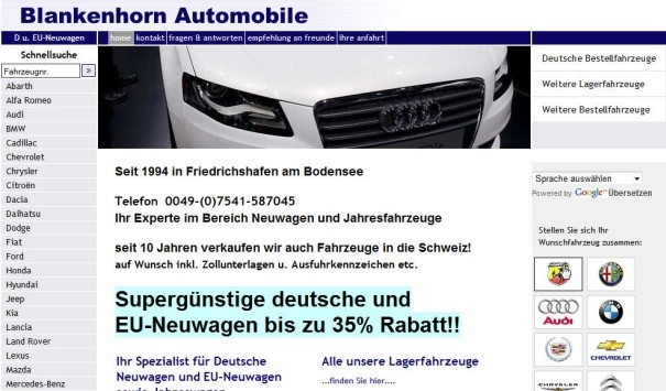 Blankenhorn Automobile - Website